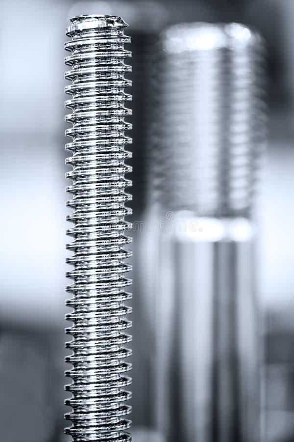 Muitos tipos de metal detalham o fundo do projeto industrial fotografia de stock