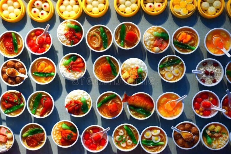 Muitos tipos de pratos chineses foto de stock royalty free