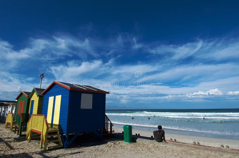 Download Muizenberg Beach colors stock photo. Image of bathing - 12685092