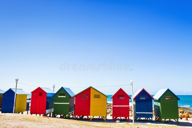 Muizenberg plaża w Południowa Afryka, Kapsztad zdjęcie royalty free