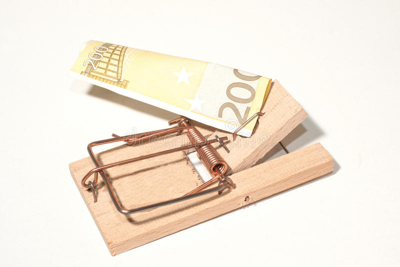 Muizeval Met 200-euro-nota Stock Foto
