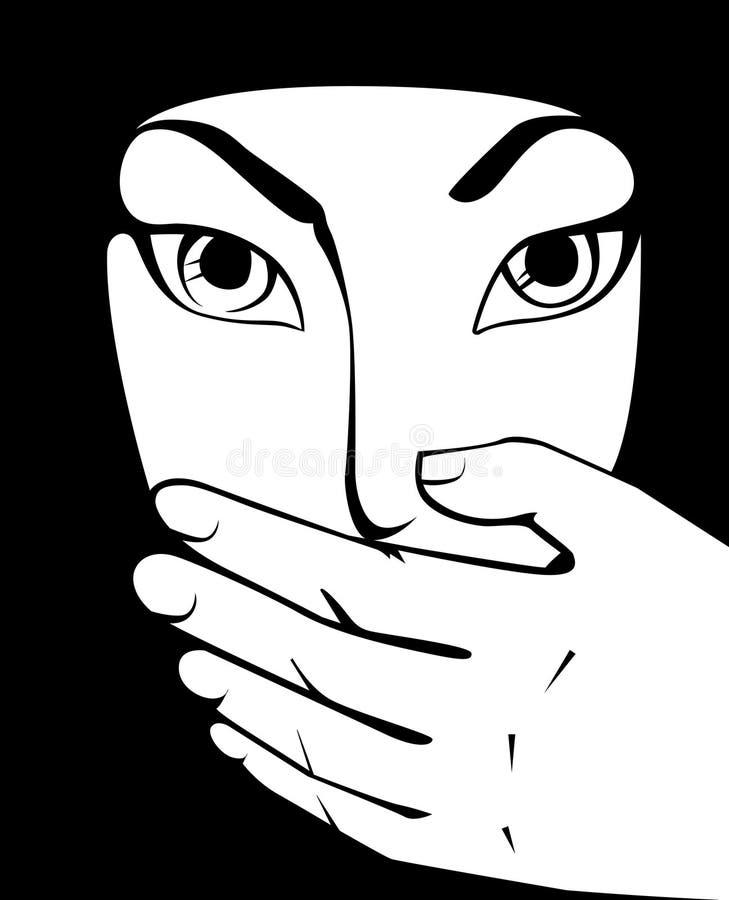 Mujer árabe en mundo islámico stock de ilustración