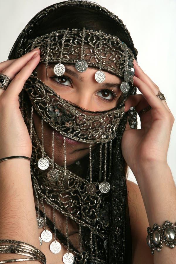 Mujer árabe/india imagen de archivo