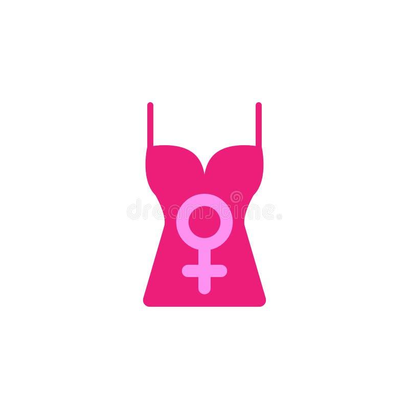 Mujer \ 'día de s, icono superior Elemento de la mujer del color \ 'del icono del día de s Icono superior del diseño gráfico de l ilustración del vector