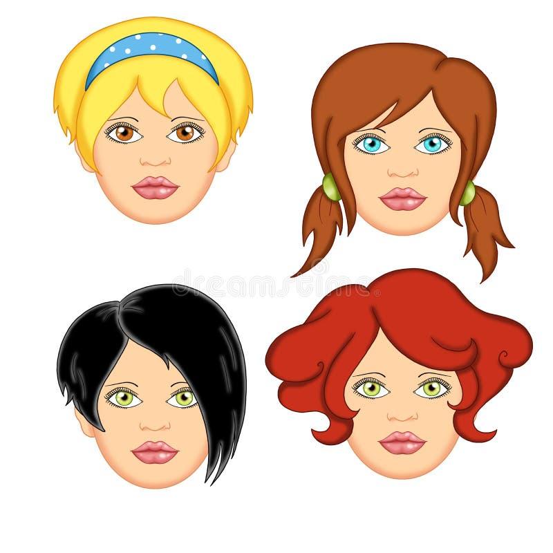 Mujer 1 del pelo libre illustration