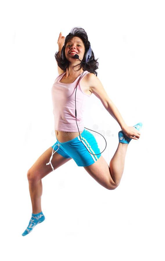 Download Mujer imagen de archivo. Imagen de salto, alegría, falda - 1276233