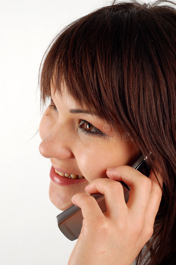 Mujer #14 del teléfono fotos de archivo libres de regalías