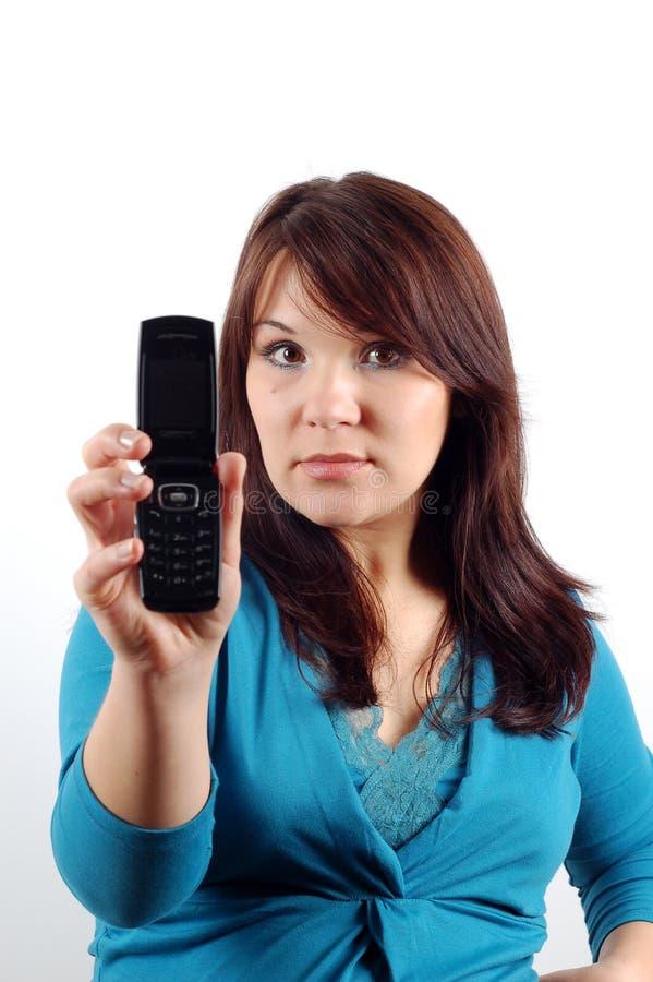Mujer #8 del teléfono fotografía de archivo libre de regalías