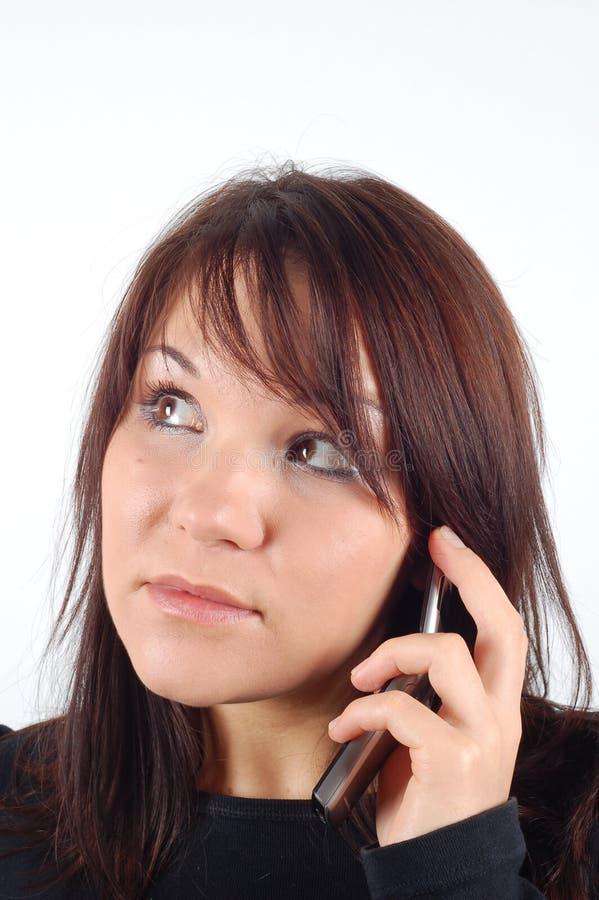 Mujer #9 del teléfono fotografía de archivo libre de regalías