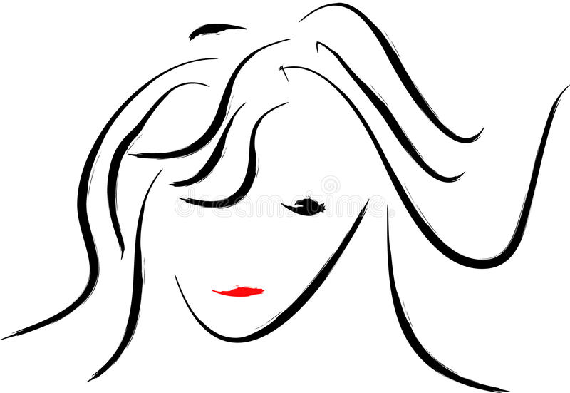 Mujer abstracta ilustración del vector