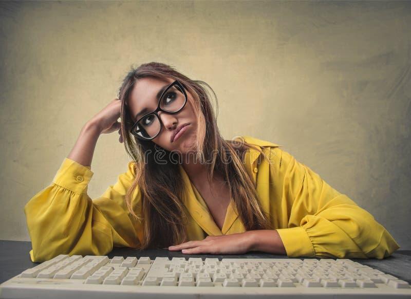 Mujer aburrida fotos de archivo