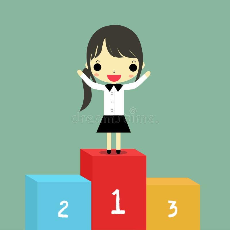 Download Mujer acertada ilustración del vector. Ilustración de gente - 64211846