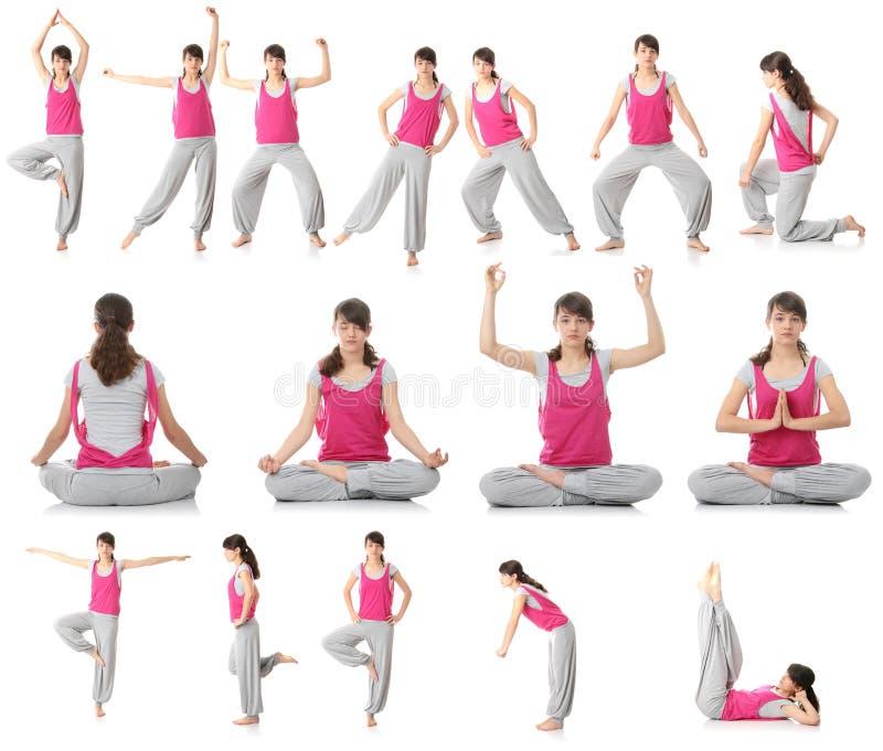 Mujer Adolescente Hermosa Que Hace Ejercicio De La Yoga Fotos de archivo
