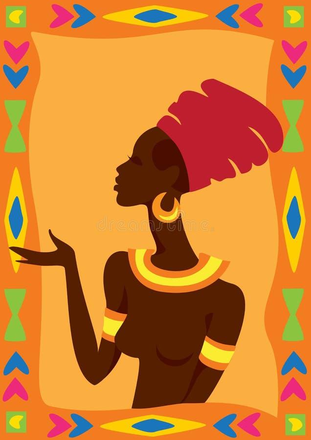 Mujer africana stock de ilustración