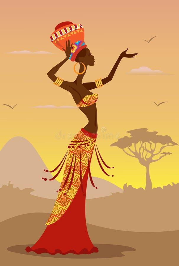Mujer africana ilustración del vector