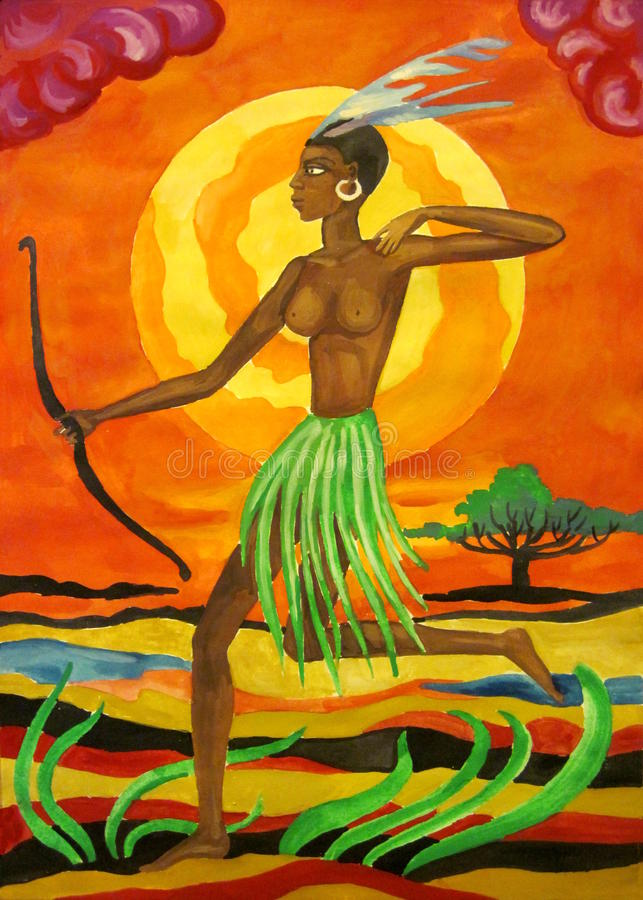 Mujer africana libre illustration