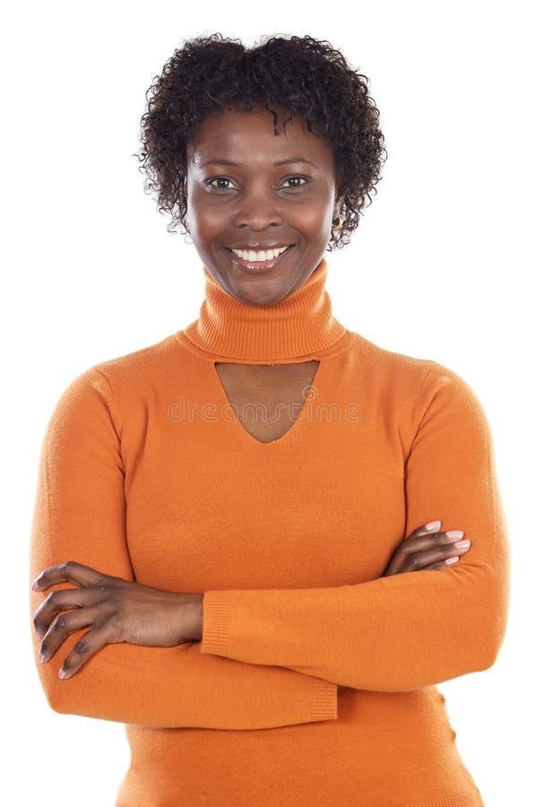 Mujer africana atractiva foto de archivo libre de regalías