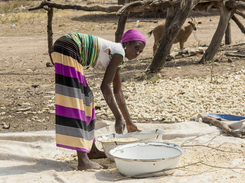 Mujer africana en Ghana fotos de archivo libres de regalías