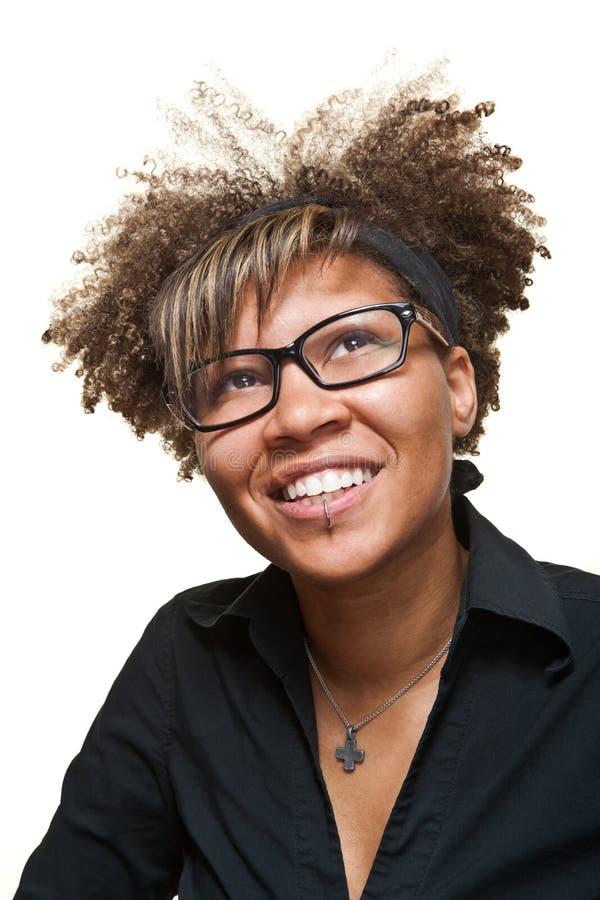 Mujer africana esperanzada joven fotografía de archivo