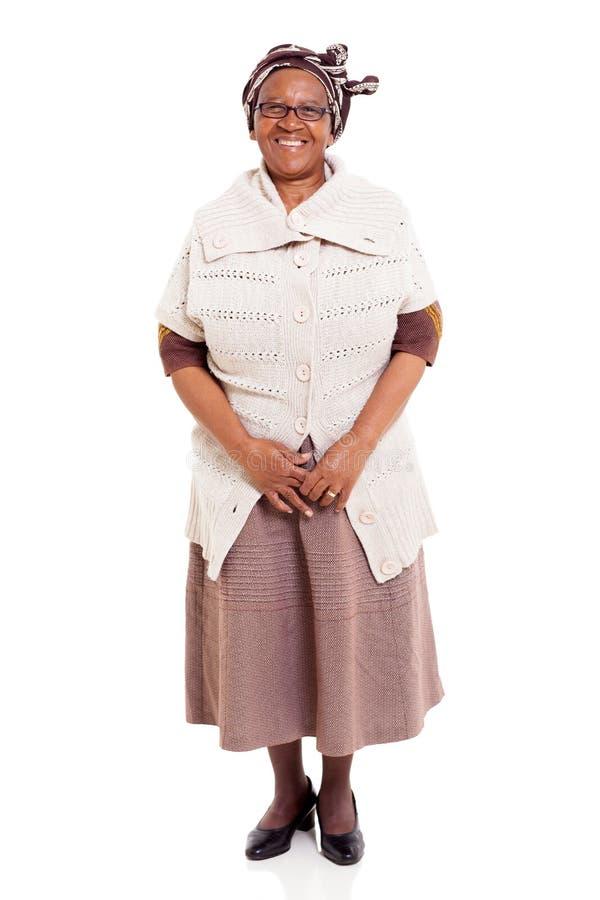 Mujer africana mayor imagen de archivo
