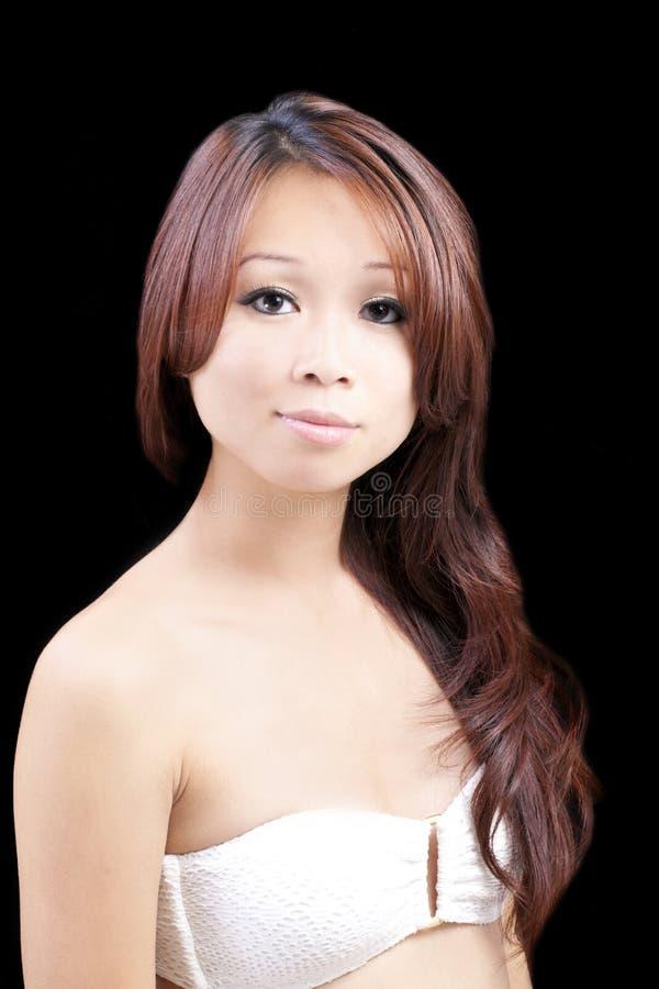 Mujer americana asiática joven del retrato imagen de archivo libre de regalías