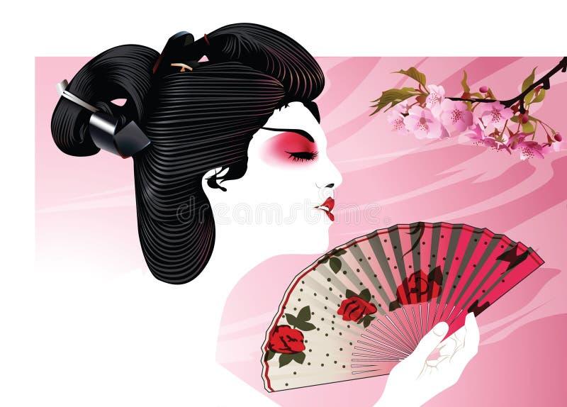 Mujer asiática ilustración del vector