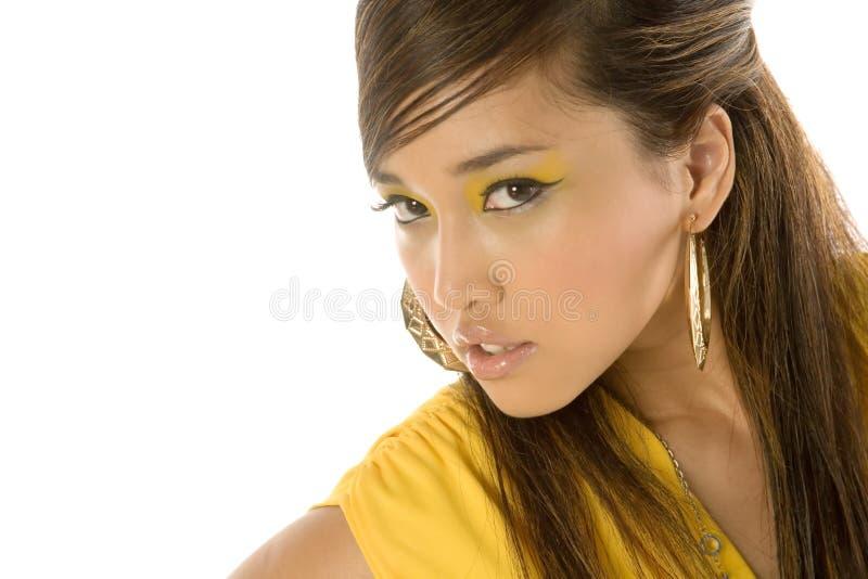 Mujer asiática atractiva hermosa imagen de archivo libre de regalías