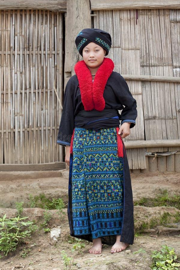 Mujer asiática, Yao, de Laos foto de archivo