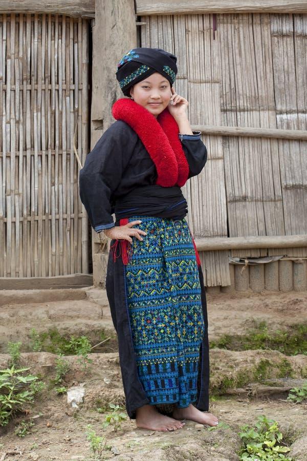 Mujer asiática, Yao, de Laos fotografía de archivo