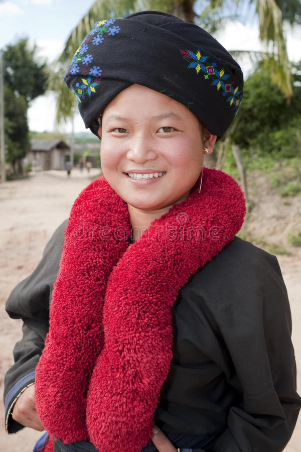 Mujer asiática, Yao, de Laos imagenes de archivo