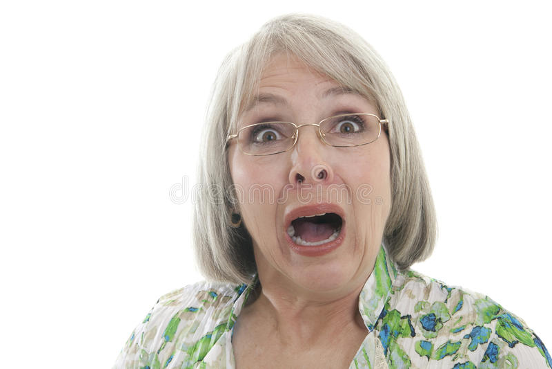 Mujer asustada imagen de archivo