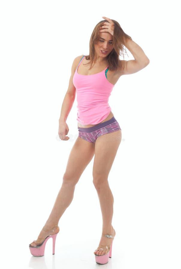 Mujer atl?tica hermosa foto de archivo libre de regalías
