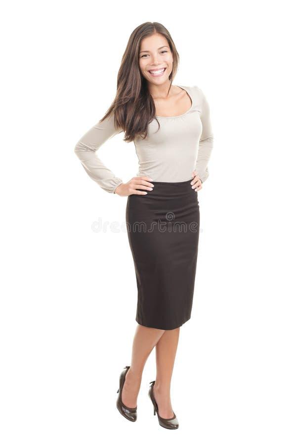 Mujer atractiva aislada imagenes de archivo