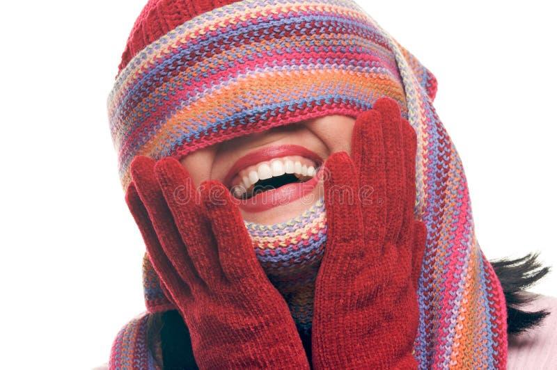Download Mujer Atractiva Con La Bufanda Colorida Sobre Ojos Foto de archivo - Imagen de brunette, eyeshadow: 7281446