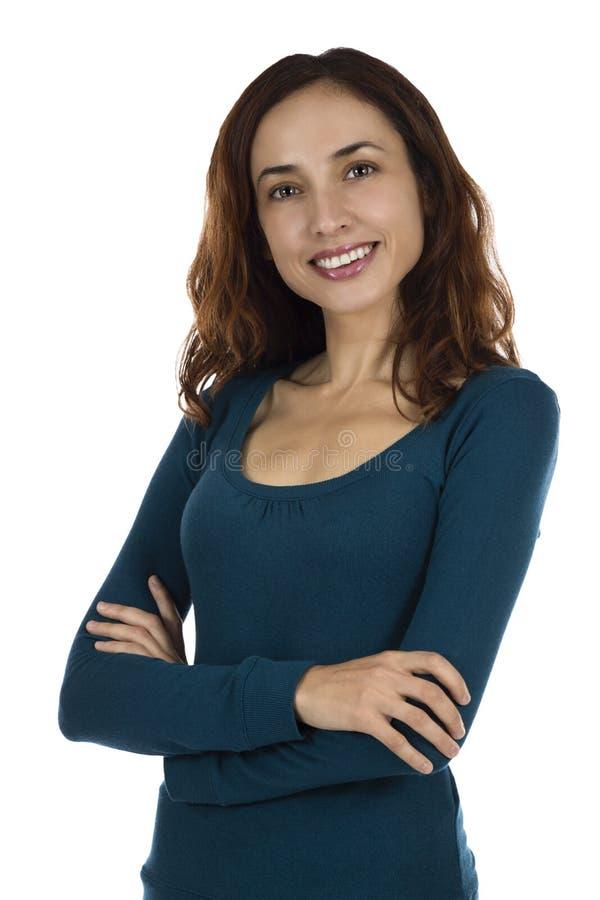 Download Mujer atractiva confiada foto de archivo. Imagen de aislante - 44852720