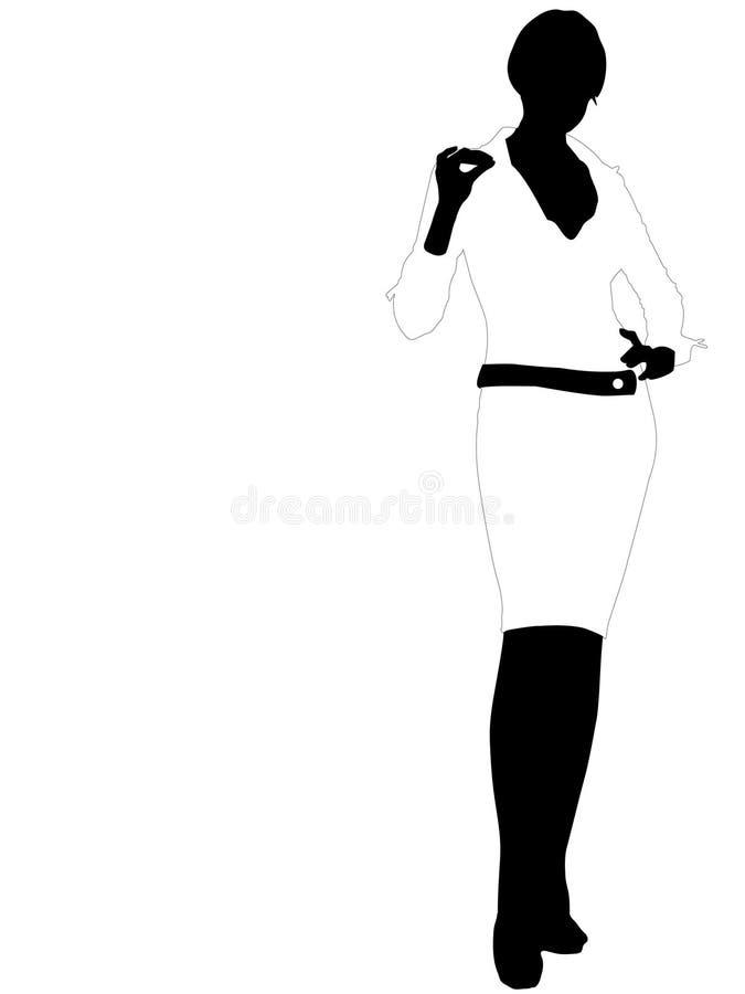 Mujer atractiva de los bussines ilustración del vector
