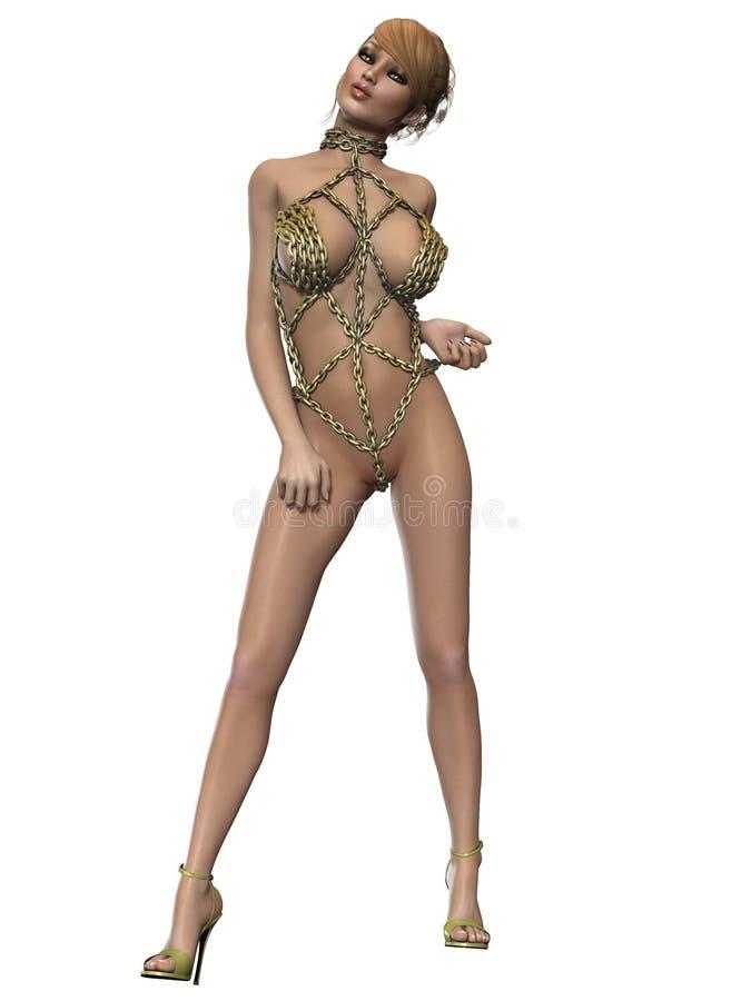 Download Mujer Atractiva Del Fetiche En La Ropa Interior De Cadena Stock de ilustración - Ilustración de ilustración, encantador: 41919814