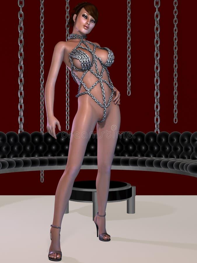 Download Mujer Atractiva Del Fetiche En La Ropa Interior De Cadena Stock de ilustración - Ilustración de fetish, encantador: 41919879