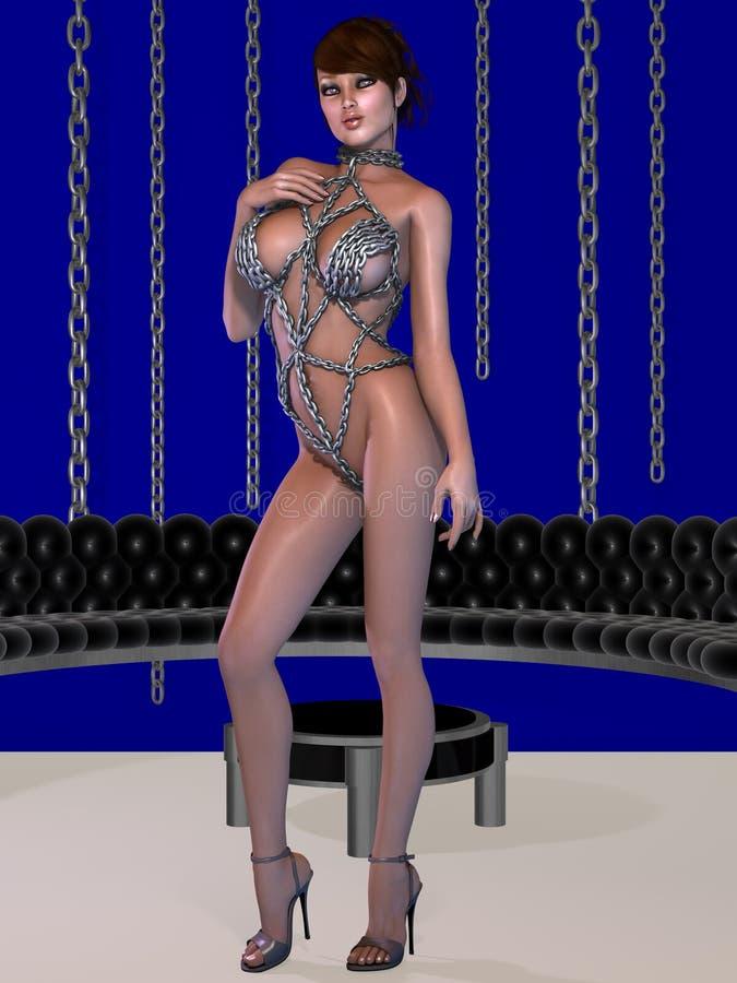 Download Mujer Atractiva Del Fetiche En La Ropa Interior De Cadena Stock de ilustración - Ilustración de latigazo, lingerie: 41919894