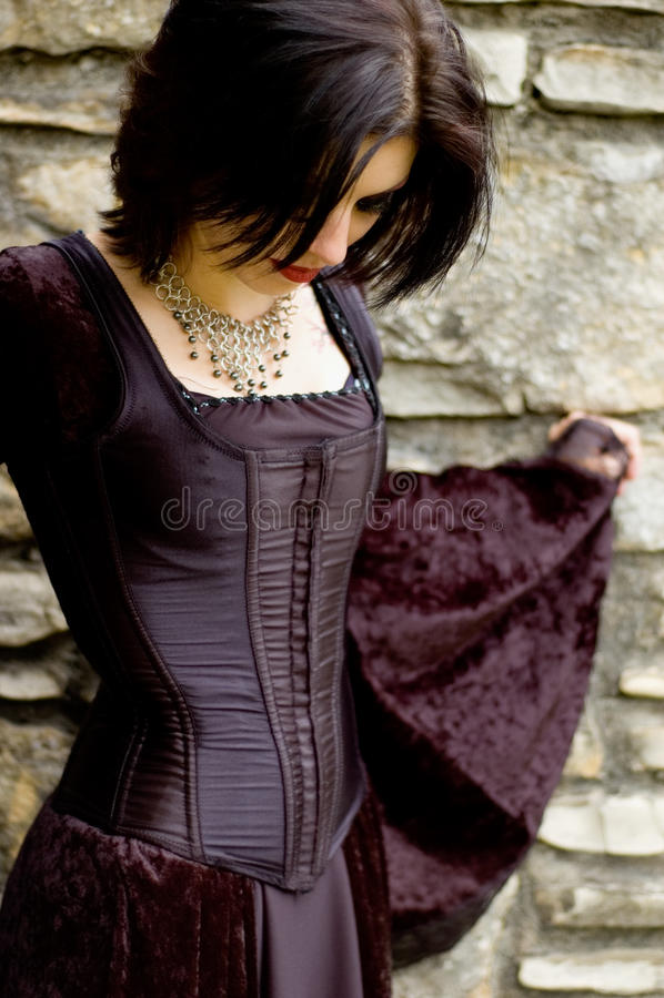 Mujer atractiva del vampiro fotografía de archivo