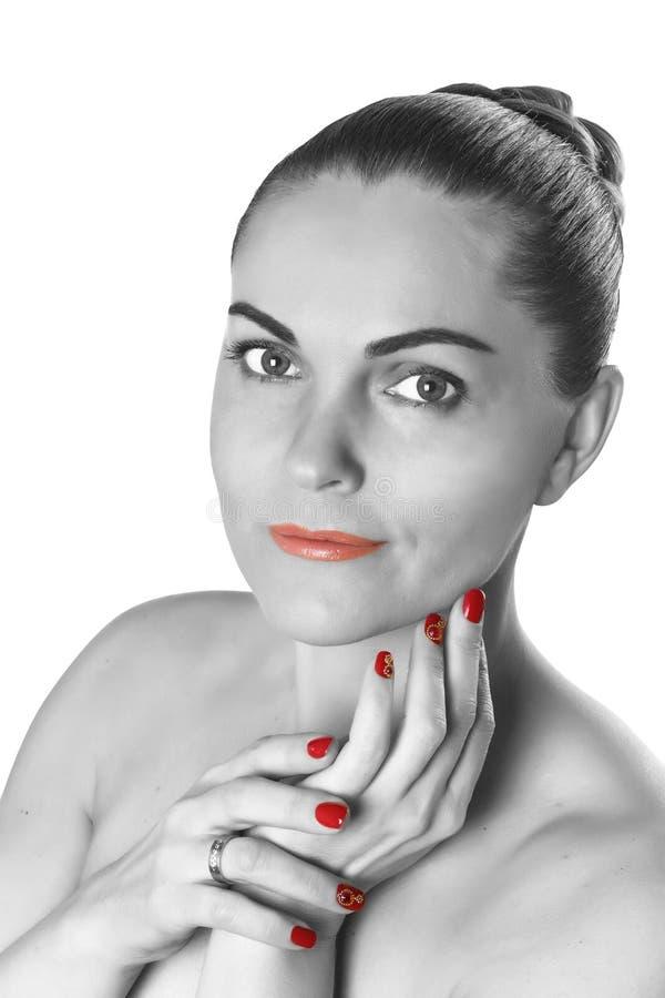 Mujer, balneario, piel, belleza, juventud, bien arreglada, retrato, procedimientos, crema, cosméticos imagenes de archivo