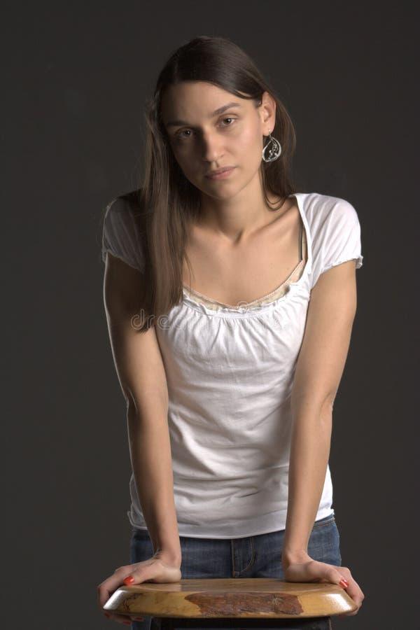 Mujer bastante joven fotografía de archivo