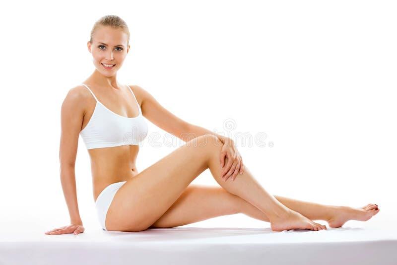 Download Mujer Bastante Medio Vestida Imagen de archivo - Imagen de mano, sentada: 42430057