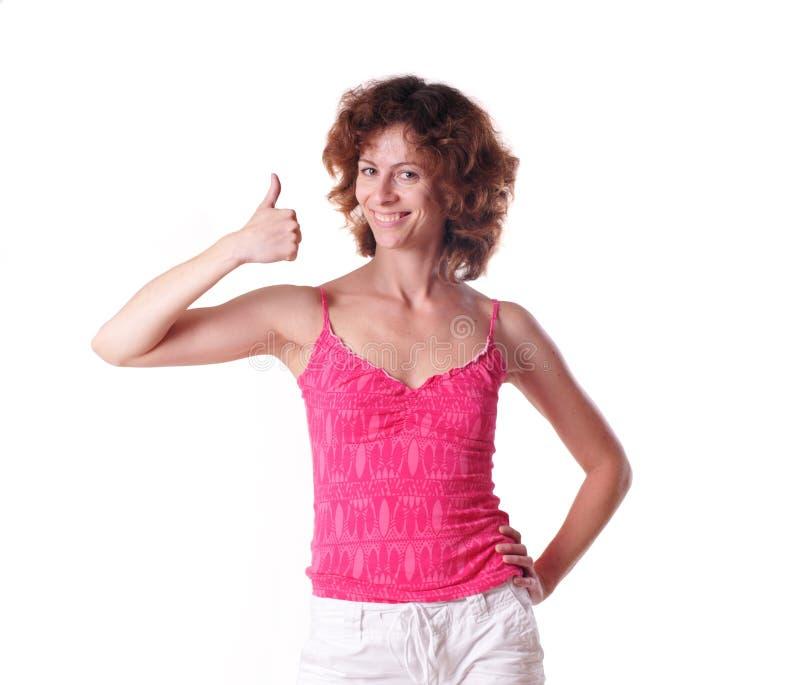 Download Mujer Bonita Con La Mejor Muestra Foto de archivo - Imagen de best, alegría: 41900986
