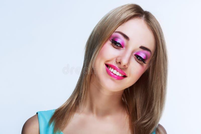 Mujer bonita con maquillaje imagenes de archivo