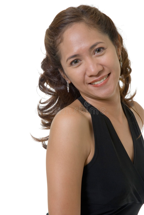 Mujer bonita en negro imágenes de archivo libres de regalías