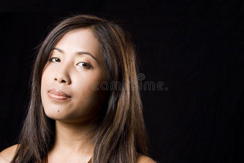 Mujer camboyana joven fotografía de archivo