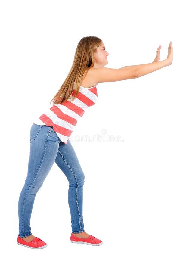 Mujer casual aislada fotografía de archivo libre de regalías