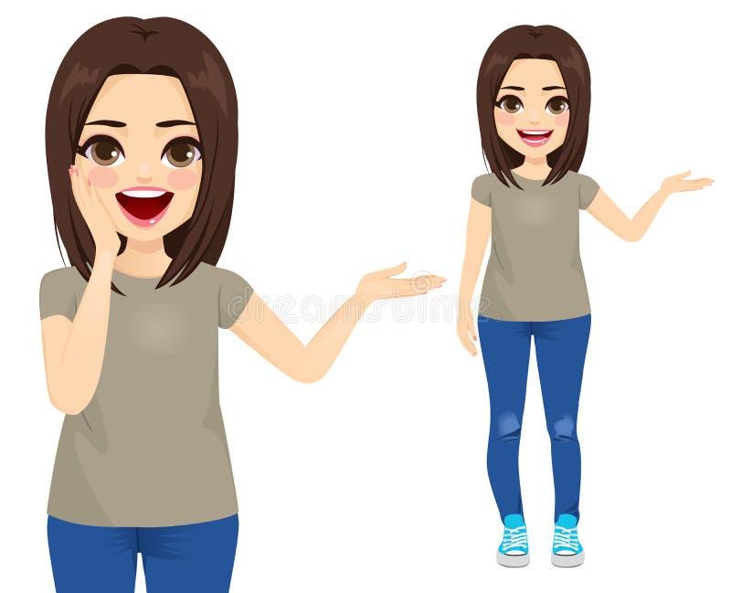 Mujer casual del adolescente stock de ilustración