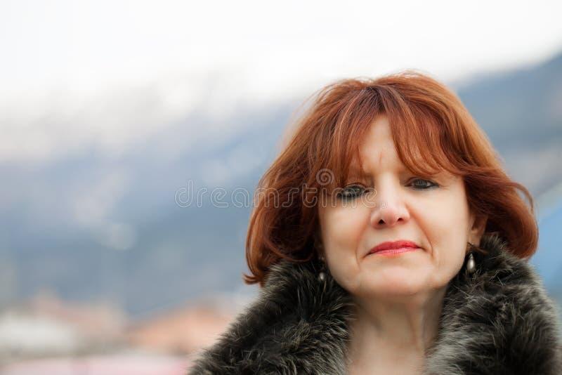 Mujer caucásica mayor imagen de archivo